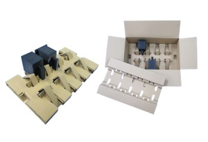 Simple Rolled Cushion for small-sized electronic part assembly packaging